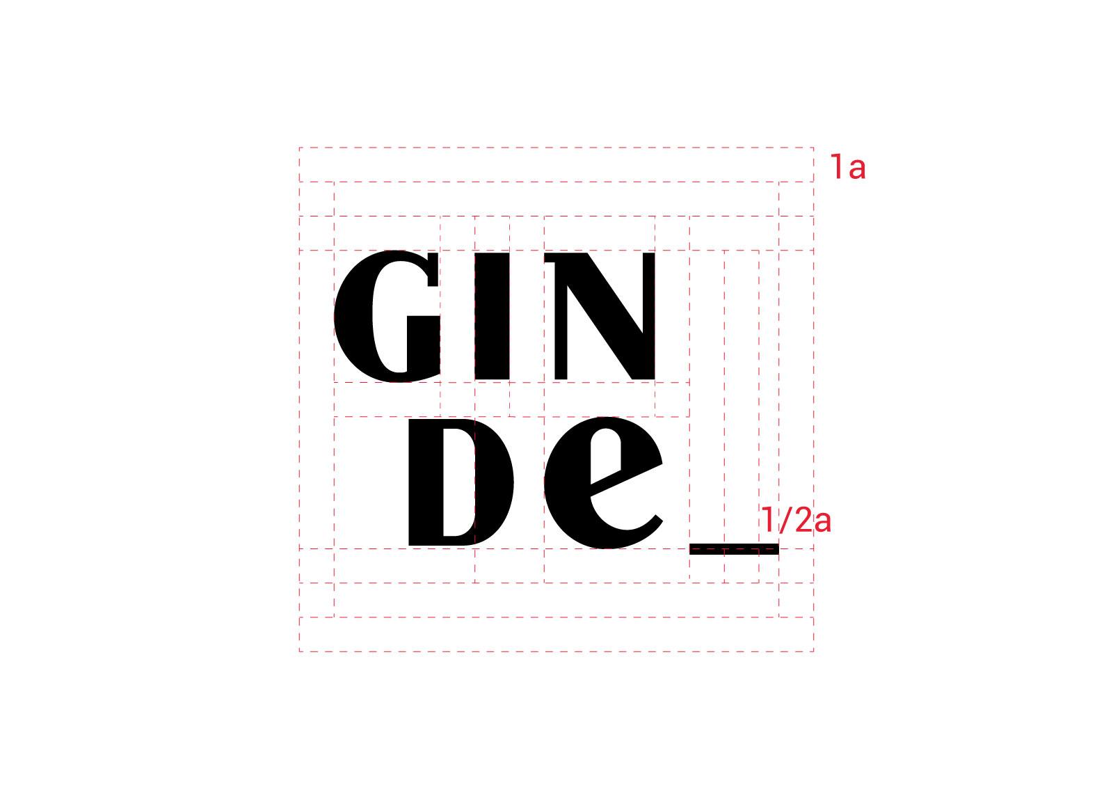 Logo Ginde con proporcionalidad